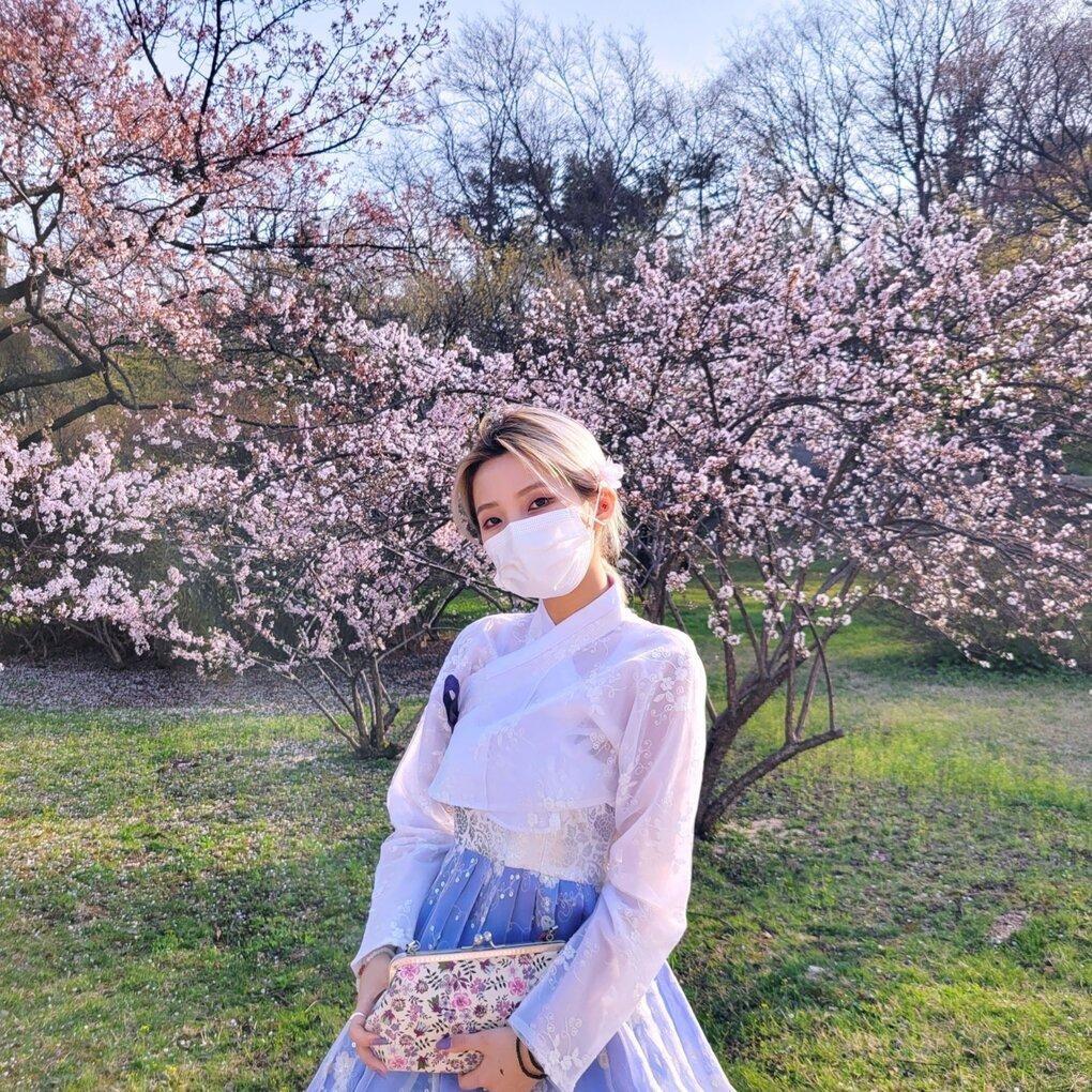 Dàn mỹ nhân K-Pop ngắm hoa anh đào: Jennie (BLACKPINK) nổi nhất nhờ trang phục thời thượng ảnh 4