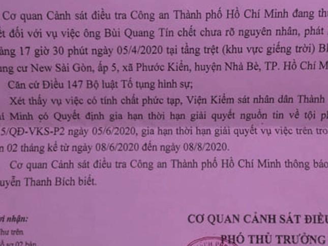 Gia hạn giải quyết vụ tiến sĩ Bùi Quang Tín rơi lầu tử vong ảnh 1