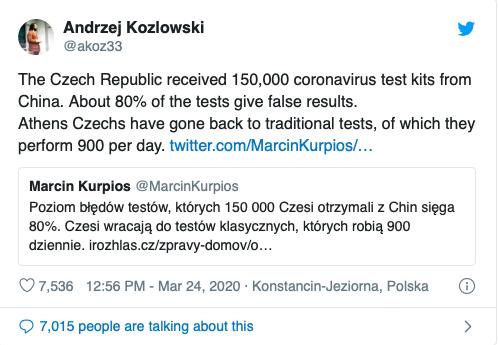 Séc phát hiện 80% dụng cụ xét nghiệm nhanh COVID-19 của Trung Quốc cho kết quả sai ảnh 1