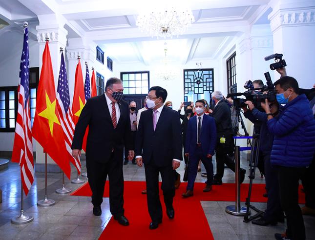 Phó Thủ tướng Phạm Bình Minh hội đàm với Ngoại trưởng Mỹ ảnh 1
