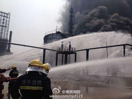 Cháy dữ dội tại nhà máy lọc dầu Trung Quốc ảnh 1