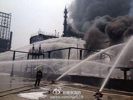 Cháy dữ dội tại nhà máy lọc dầu Trung Quốc ảnh 2