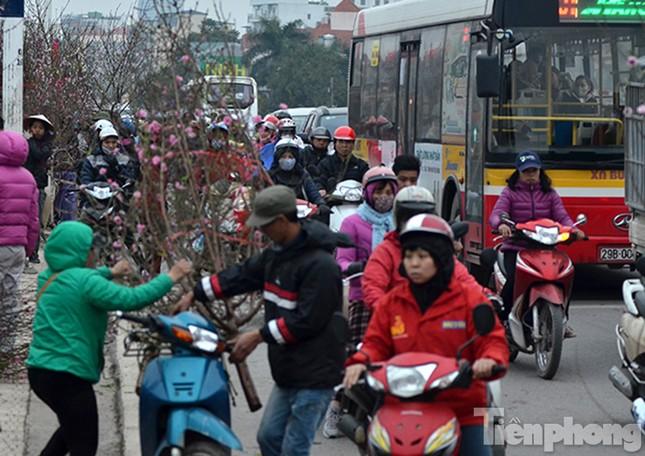 Ùn tắc hàng km trên đường vào chợ hoa Quảng An ảnh 2