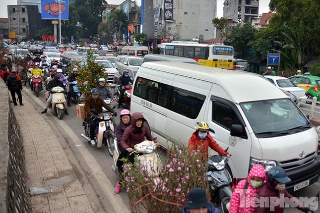 Ùn tắc hàng km trên đường vào chợ hoa Quảng An ảnh 1