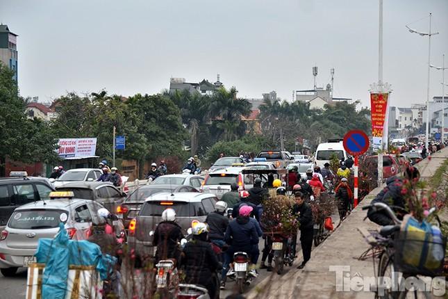 Ùn tắc hàng km trên đường vào chợ hoa Quảng An ảnh 3