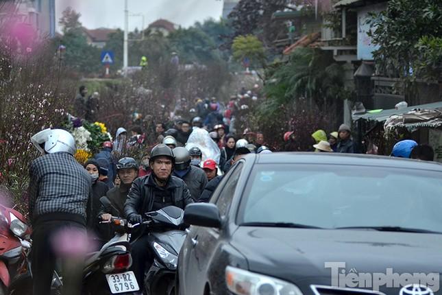 Ùn tắc hàng km trên đường vào chợ hoa Quảng An ảnh 8