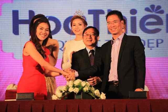 Công bố và ký kết với các nhà tài trợ Hoa hậu Việt Nam 2016 ảnh 2