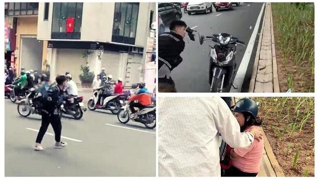Tạm giữ hình sự thanh niên 17 tuổi đập phá xe máy ở đường Trường Chinh ảnh 1