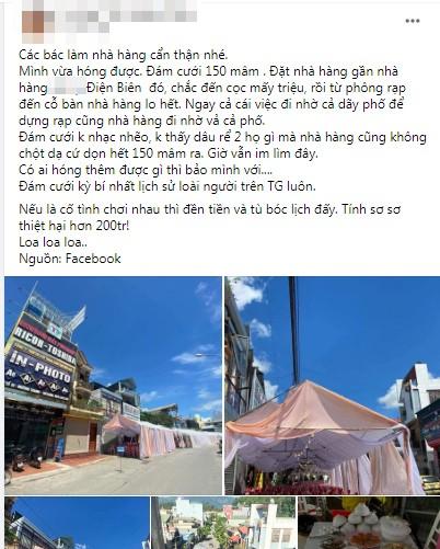 Xôn xao nhà hàng bị 'bom' 150 mâm cỗ ở Điện Biên ảnh 3