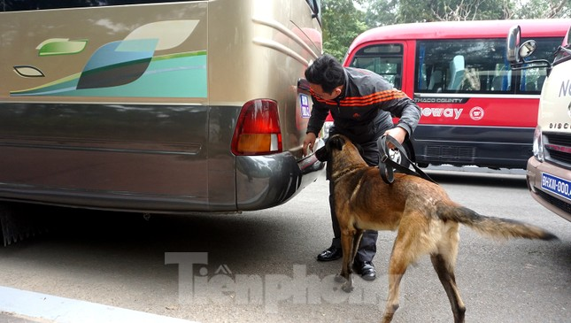 Cảnh khuyển tham gia rà soát xe phục vụ Đại hội XIII ảnh 10