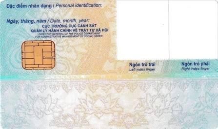 Chi tiết thẻ Căn cước công dân gắn chip ảnh 3