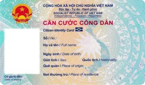 Chi tiết thẻ Căn cước công dân gắn chip ảnh 2