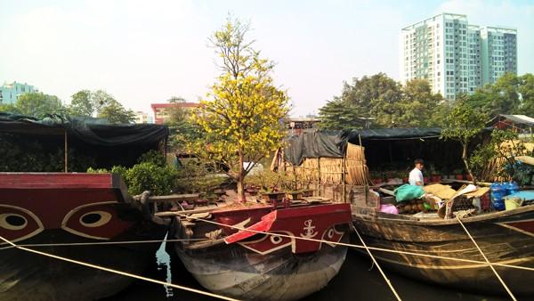 Độc đáo những chiếc thuyền hoa ở xóm vạn chài ngày cận tết ảnh 9
