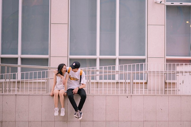 """Cặp """"đũa lệch"""" đáng yêu của ĐH Đại Việt: Chàng hơn nàng 31cm, luôn gây sự chú ý ảnh 3"""