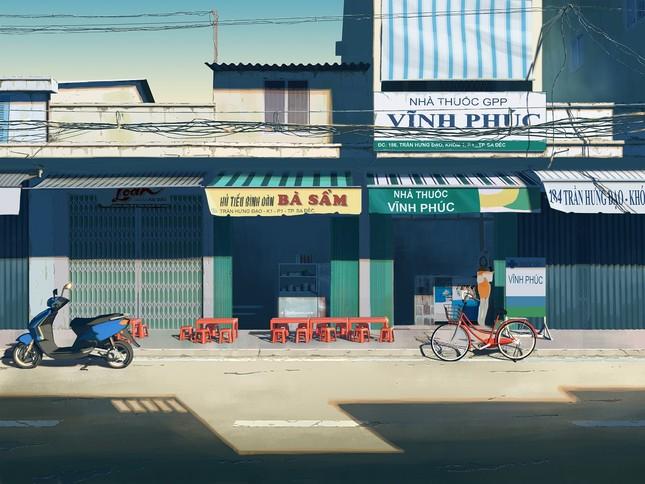 """Đồng Tháp sống động """"như phim"""" qua tranh vẽ của chàng sinh viên Đỗ Minh Hải ảnh 5"""