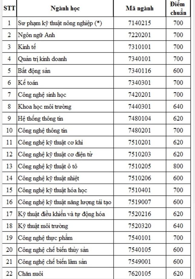 Điểm chuẩn thi đánh giá năng lực 2020 vào trường ĐH Nông Lâm TP. HCM: Tối thiểu 600 điểm ảnh 2