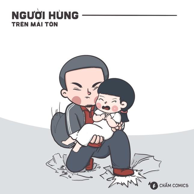 """Người trẻ vẽ tranh vinh danh lòng dũng cảm của """"Siêu nhân"""" Nguyễn Ngọc Mạnh  ảnh 4"""