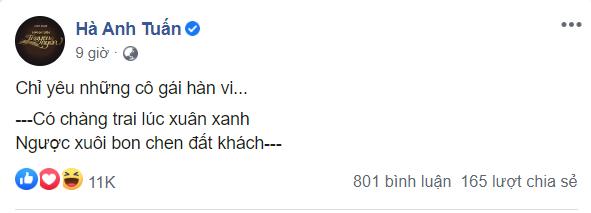Hà Anh Tuấn bất ngờ tiết lộ yêu 'cô gái hàn vi' ảnh 1