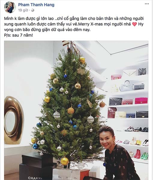 Hà Hồ - Kim Lý và loạt sao Việt chia sẻ gì dịp Giáng sinh? ảnh 7