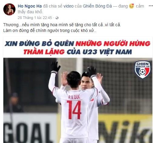 Hồ Ngọc Hà và U23 Việt Nam
