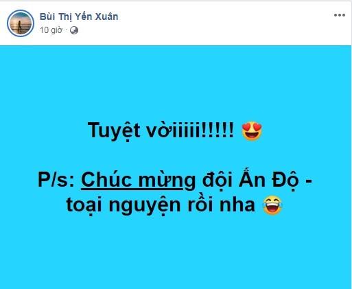 Tuyển Việt Nam thắng Thái Lan, bạn gái hotgirl của Lâm Tây nói gì? ảnh 2