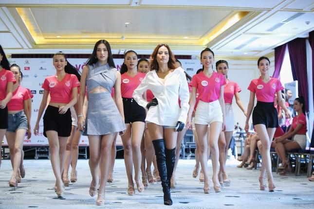 Tiểu Vy mặc gợi cảm hướng dẫn thí sinh hoa hậu catwalk và nhắn nhủ điều quan trọng ảnh 11