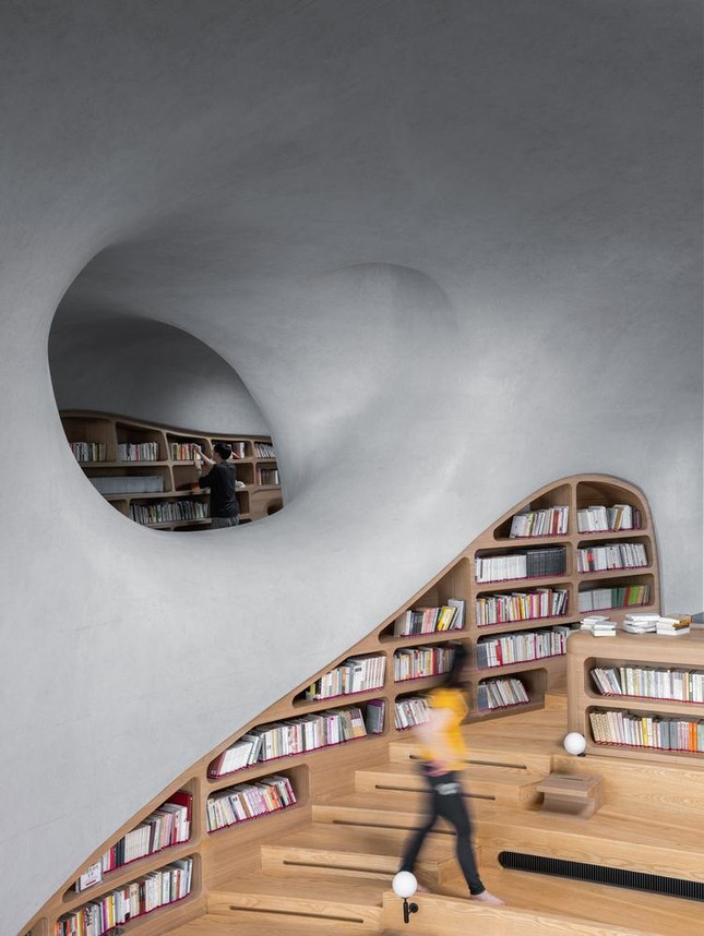 Thư viện nằm bên bờ biển có cấu trúc độc lạ, có một không hai ảnh 7