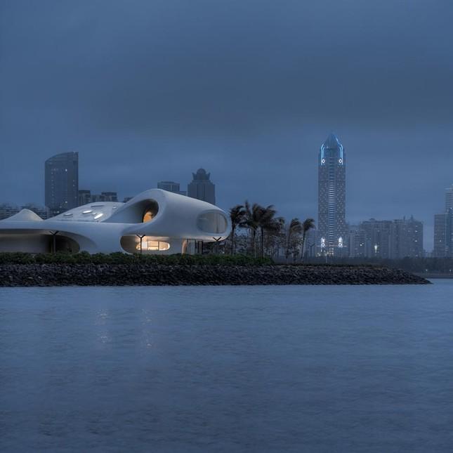 Thư viện nằm bên bờ biển có cấu trúc độc lạ, có một không hai ảnh 18