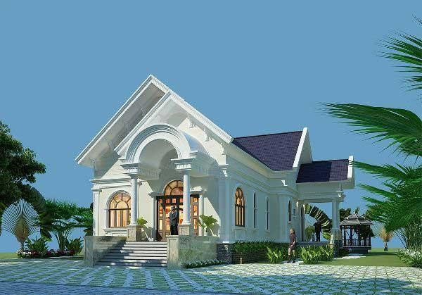 Mẫu nhà cấp 4 mái Thái đang được xây dựng nhiều nhất hiện nay ảnh 1