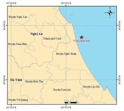Động đất 3.0 độ richter trên biển Hà Tĩnh ảnh 1