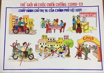 Ấn tượng những bức tranh chống COVID-19 của chiến sỹ Bộ đội Biên phòng ảnh 6