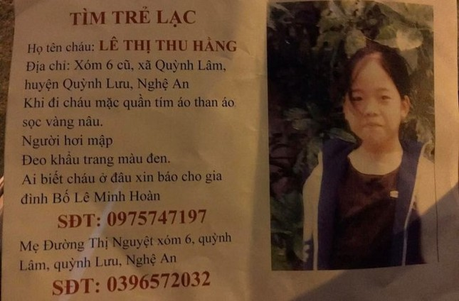 Nữ sinh 15 tuổi mất tích ở Nghệ An được cưu mang ở Hà Nội ảnh 1