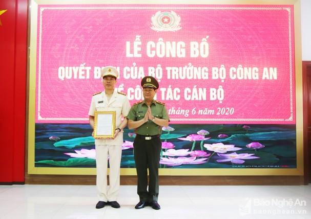 Đại tá Cao Minh Huyền làm Phó Giám đốc công an tỉnh Nghệ An ảnh 1