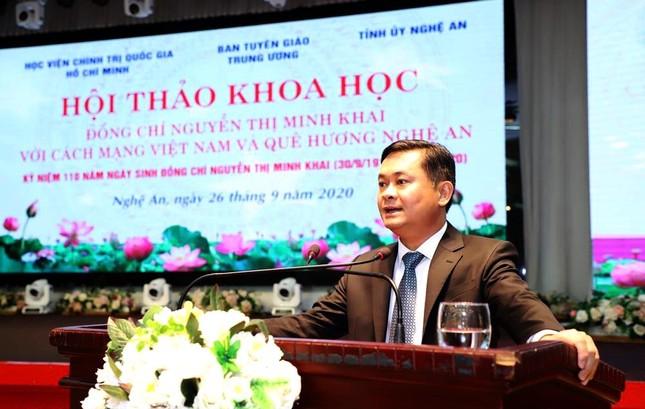 Đồng chí Nguyễn Thị Minh Khai với cách mạng và quê hương Nghệ An ảnh 4