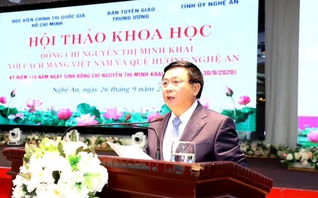 Đồng chí Nguyễn Thị Minh Khai với cách mạng và quê hương Nghệ An ảnh 3