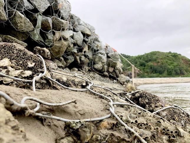 Đê chắn sóng 300 tỷ ở Hà Tĩnh sạt lở, đứt gãy sau bão số 5 ảnh 7