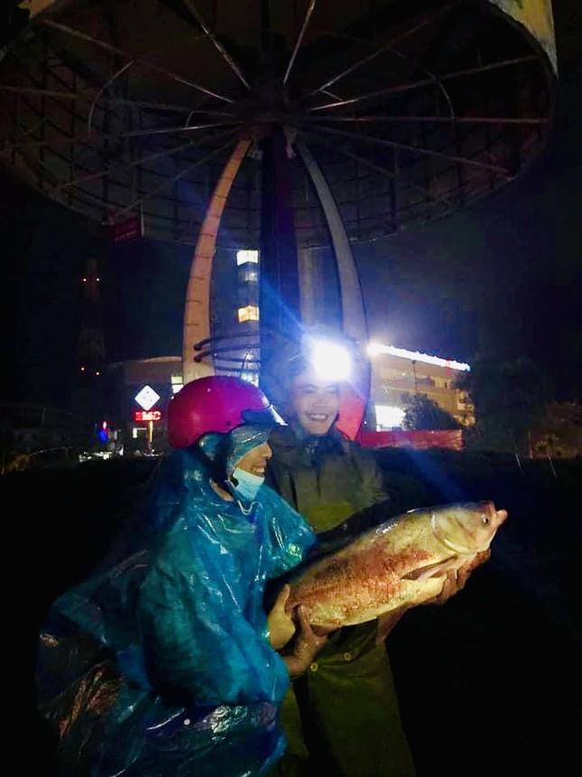 Nước lũ dâng cao, người dân Hà Tĩnh mang nơm ra đường bắt cá ảnh 8