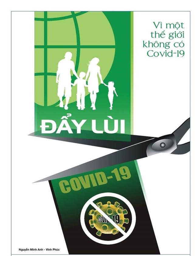 Tung tranh cổ động chống tin giả, cổ vũ đeo khẩu trang chống COVID-19 ảnh 12