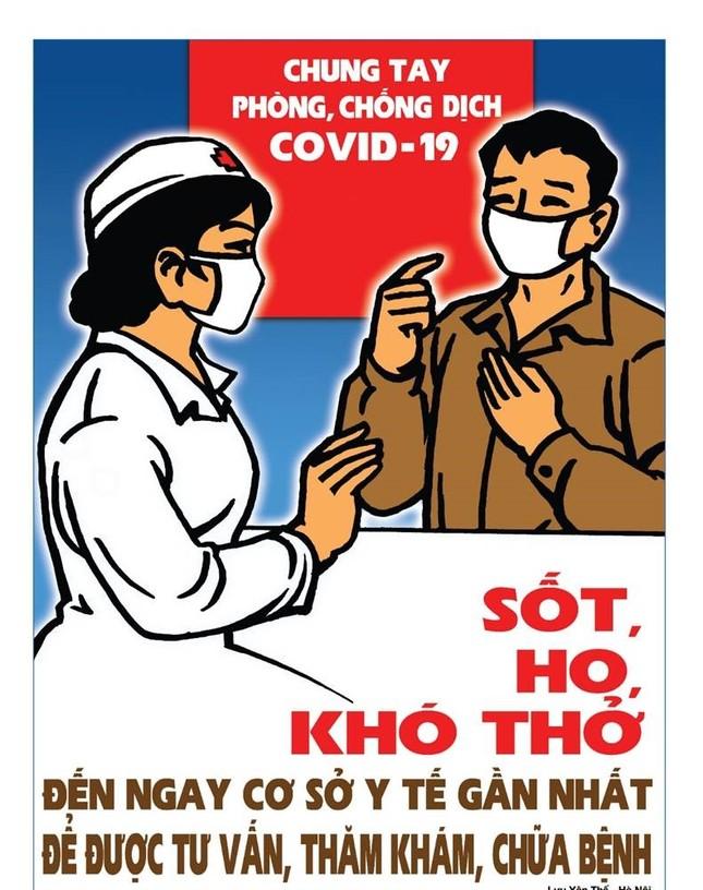 Tung tranh cổ động chống tin giả, cổ vũ đeo khẩu trang chống COVID-19 ảnh 9