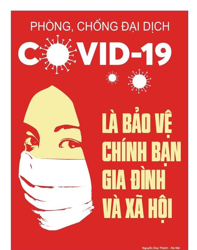 Tung tranh cổ động chống tin giả, cổ vũ đeo khẩu trang chống COVID-19 ảnh 8