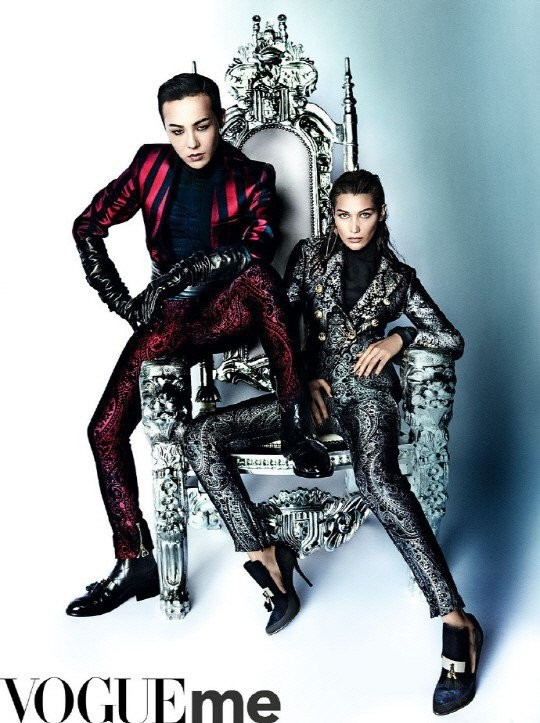 G-Dragon trang điểm đậm, tình tứ bên nàng mẫu gợi cảm Bella Hadid ảnh 2