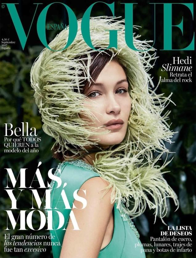 'Chân dài' Bella Hadid quá đỗi gợi cảm trên hàng loạt ấn phẩm Vogue ảnh 11