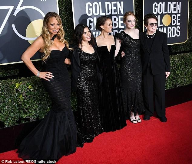 Vì sao dàn mỹ nhân đồng loạt diện đồ đen dự Quả Cầu Vàng 2018? ảnh 19