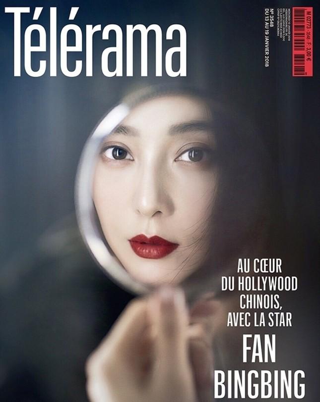 Phạm Băng Băng môi trầm da trắng sứ trên bìa báo Pháp ảnh 1