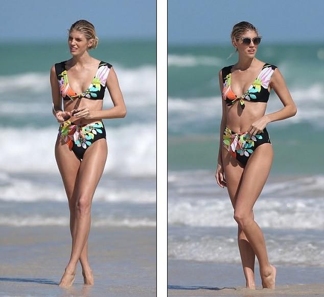 Hậu trường chụp áo tắm nóng bỏng của người đẹp Mỹ cao 1m80 ảnh 3