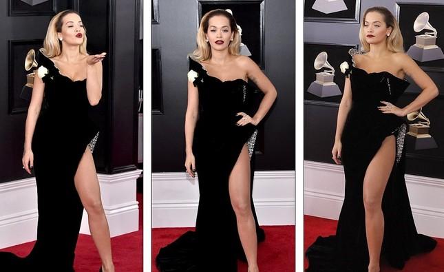 Rita Ora diện váy siêu xẻ quyến rũ hút hồn trên thảm đỏ Grammy ảnh 5
