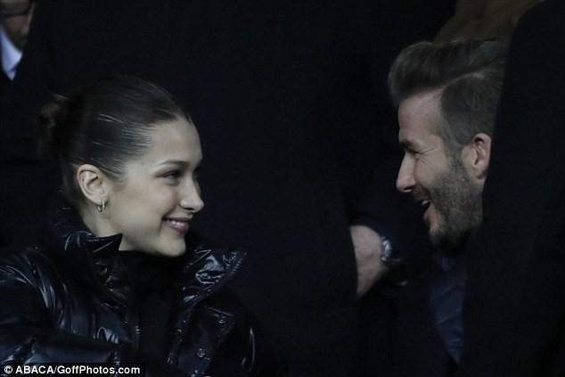 David Beckham trò chuyện thân mật cùng nàng mẫu gợi cảm Bella Hadid ảnh 5