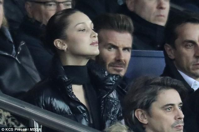 David Beckham trò chuyện thân mật cùng nàng mẫu gợi cảm Bella Hadid ảnh 3