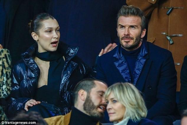 David Beckham trò chuyện thân mật cùng nàng mẫu gợi cảm Bella Hadid ảnh 4