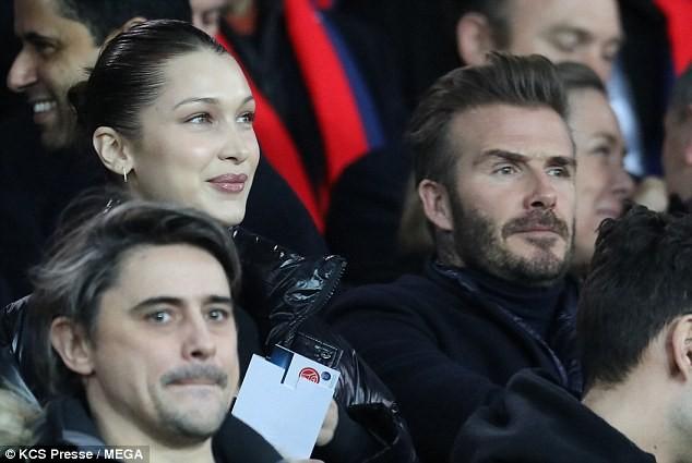 David Beckham trò chuyện thân mật cùng nàng mẫu gợi cảm Bella Hadid ảnh 8